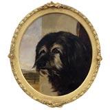 Nineteenth Century Portrait Of Dog.