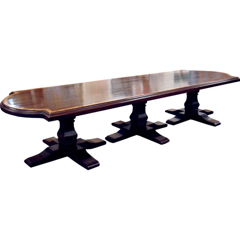custom handcrafted english dining table at 1stdibs