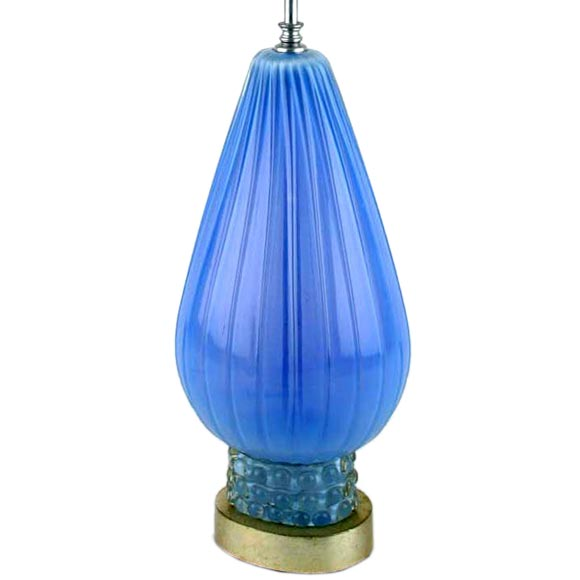 this blue murano glass lamp on silver leafed base is no longer. Black Bedroom Furniture Sets. Home Design Ideas