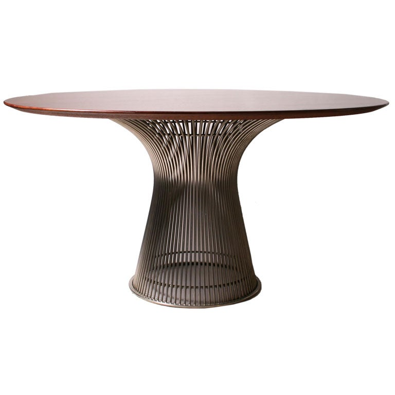 warren platner dining room table with wood top at 1stdibs