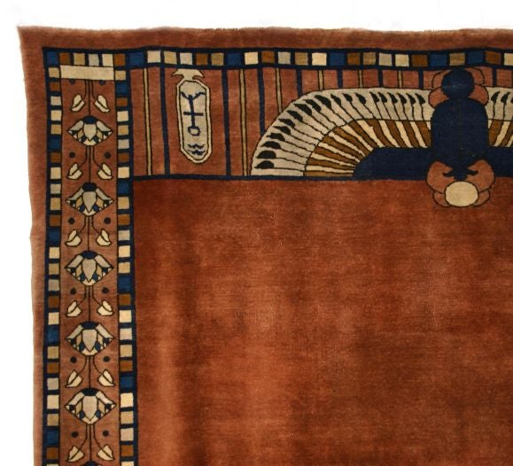 Exceptional Egyptian Revival Room Sized Art Deco Carpet At