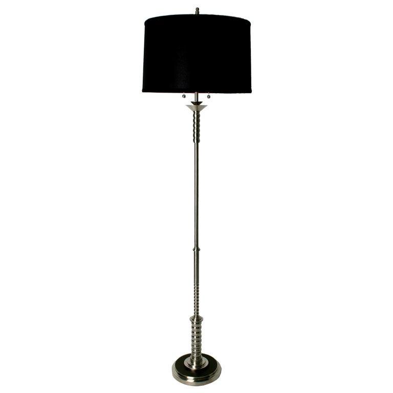 Art deco machine age floor lamp at 1stdibs