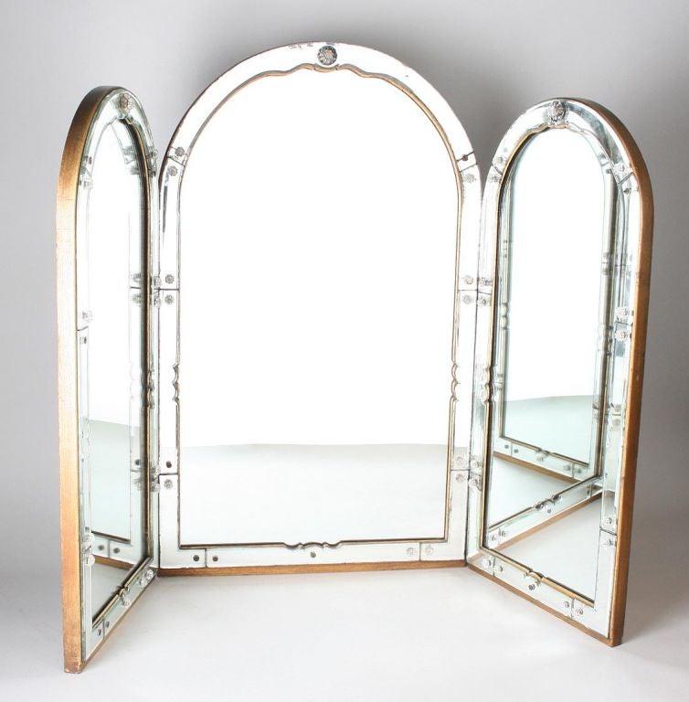outstanding art deco venetian vanity mirror at 1stdibs