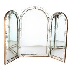 Outstanding Art Deco Venetian Vanity Mirror