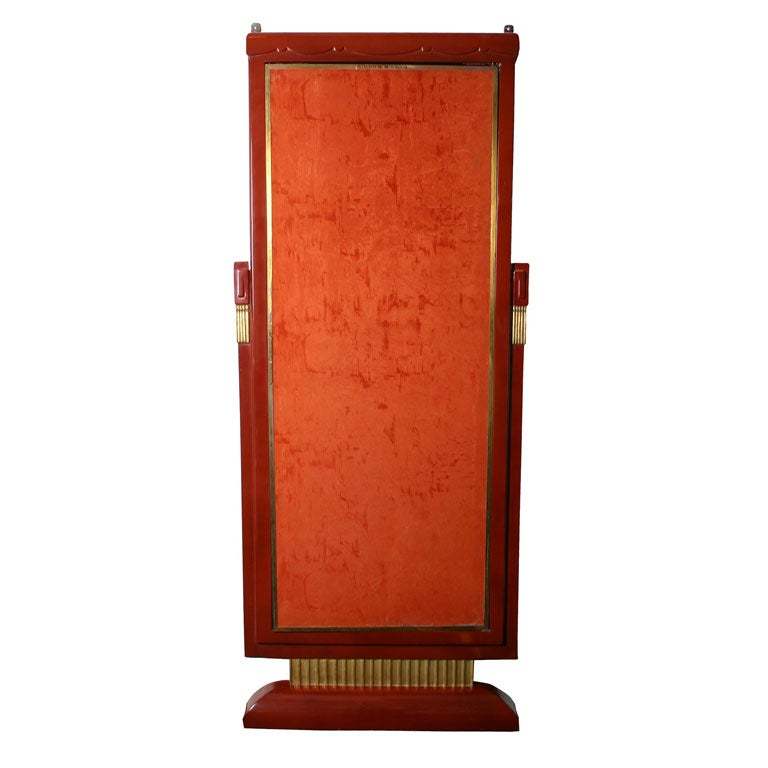 Three paneled art deco miroir brot dressing mirror at 1stdibs for Miroir art deco