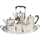 Art Deco Substantial Sterling Coffee and Tea Set