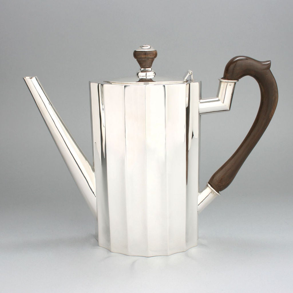 Art Deco Substantial Sterling Coffee And Tea Set For Sale