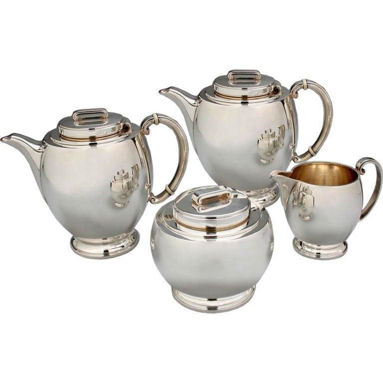 Modern Classic Art Deco Tea And Coffee Set By Robert E