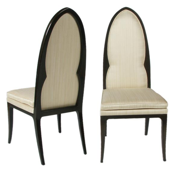 Pair of Harvey Probber Arch Back Side Chairs For Sale