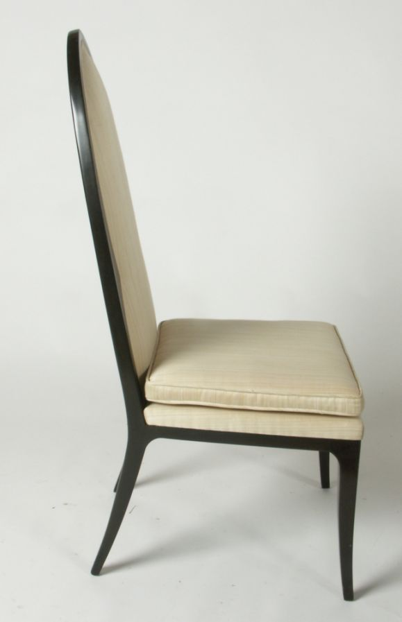Mid-Century Modern Pair of Harvey Probber Arch Back Side Chairs For Sale