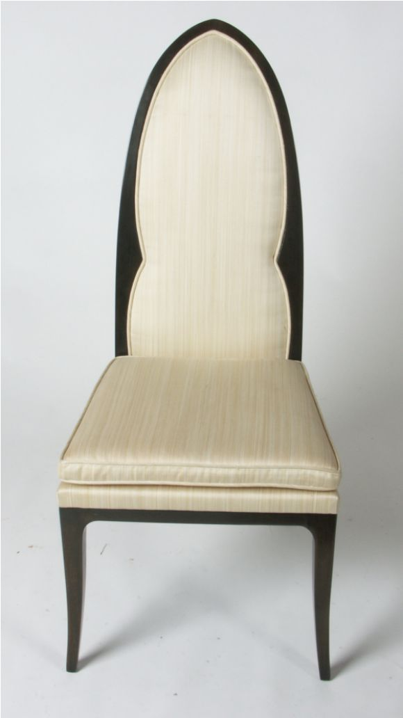 American Pair of Harvey Probber Arch Back Side Chairs For Sale