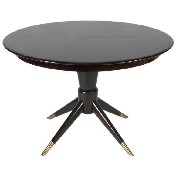 Fabry Round Italian Walnut Dining Table At 1stdibs
