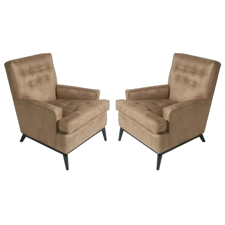 Pair of T.H. Robsjohn-Gibbings Club Chairs