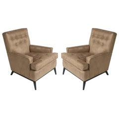 Pair of T.H. Robsjohn-Gibbings for Widdicomb Club Chairs