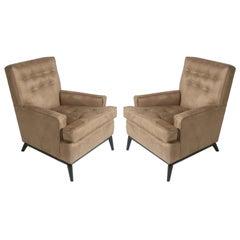 Pair of T.H. Robsjohn-Gibbings for Widdicomb Club Chairs