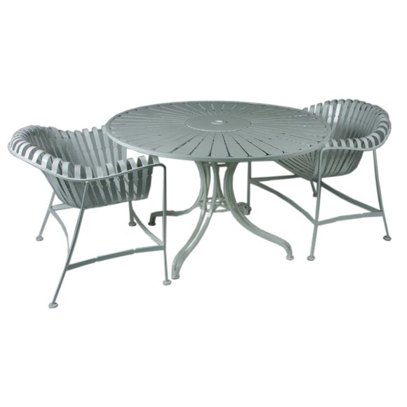 micentury iron patio set table and 4 chairs at 1stdibs