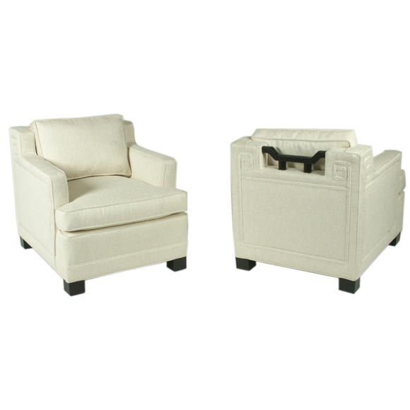 Pair of Baker Far East Club Chairs Designed by Winsor White