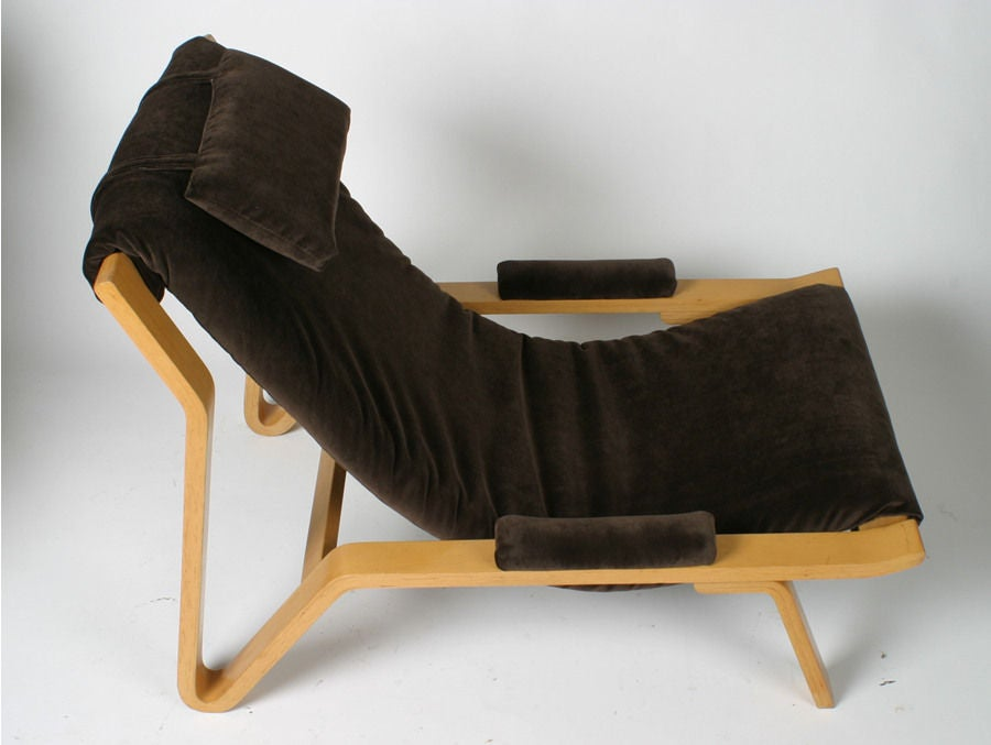 American Rare Harvey Probber Sling Chair, circa 1948 For Sale
