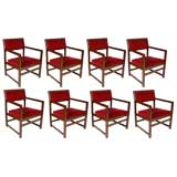 Set of Eight Edward Wormley for Dunbar Armchairs