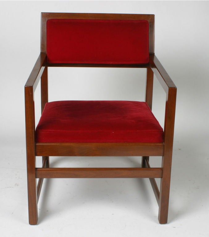 Set of Eight Edward Wormley for Dunbar Armchairs In Good Condition For Sale In St. Louis, MO