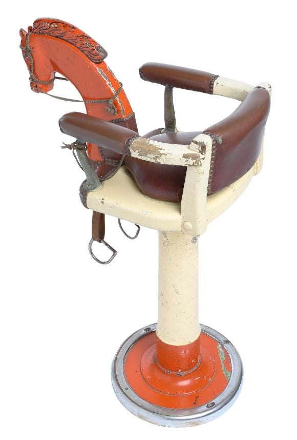 Child S Barber Chair With Horse At 1stdibs