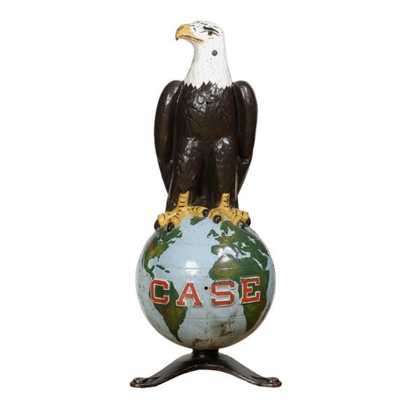 Cast iron case eagle at stdibs