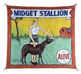 """""""Midget Stallion"""" Circus Banner"""