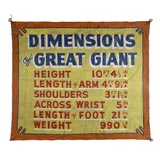 """""""GREAT GIANT"""" CIRCUS BANNER"""