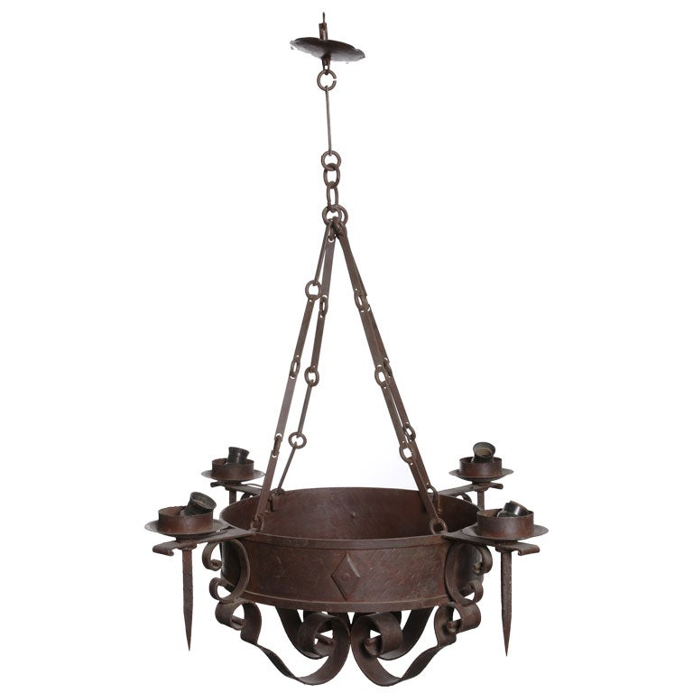 Wrought Iron Light Fixture At 1stdibs