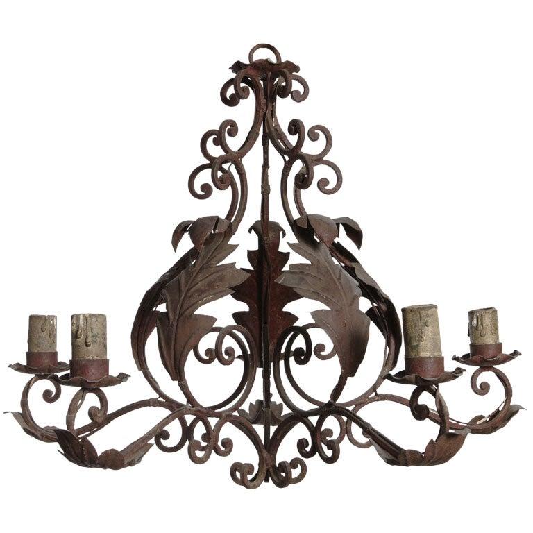 wrought iron light fixture at 1stdibs. Black Bedroom Furniture Sets. Home Design Ideas