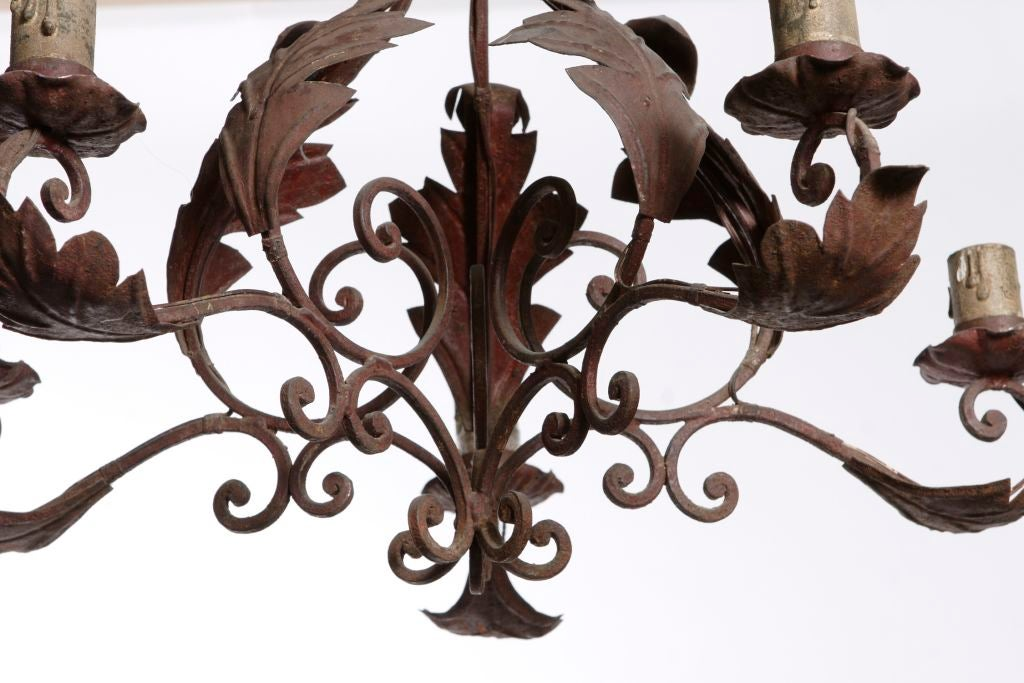 wrought iron light fixture for sale at 1stdibs. Black Bedroom Furniture Sets. Home Design Ideas