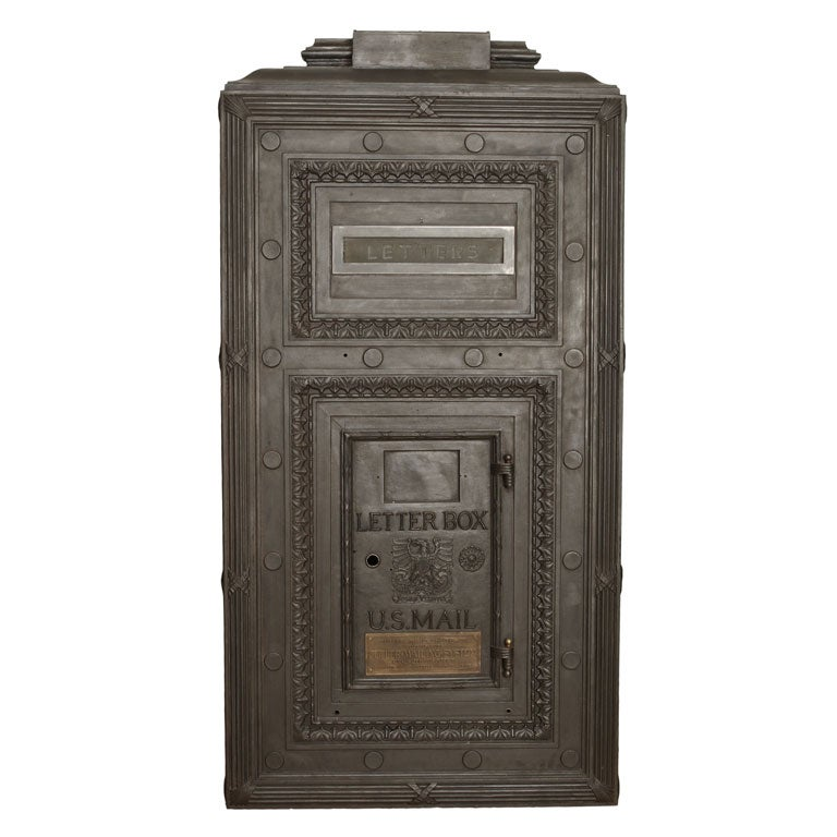 Polished Cast Iron Lobby Mail Box At 1stdibs