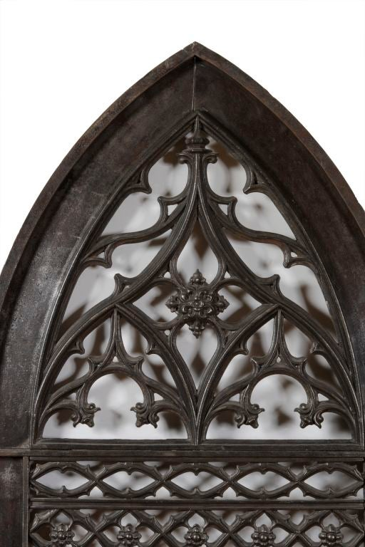 Polished Cast Iron Gothic Door At 1stdibs