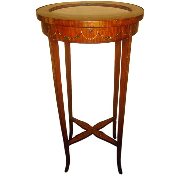 French satinwood vitrine table at 1stdibs for Table vitrine