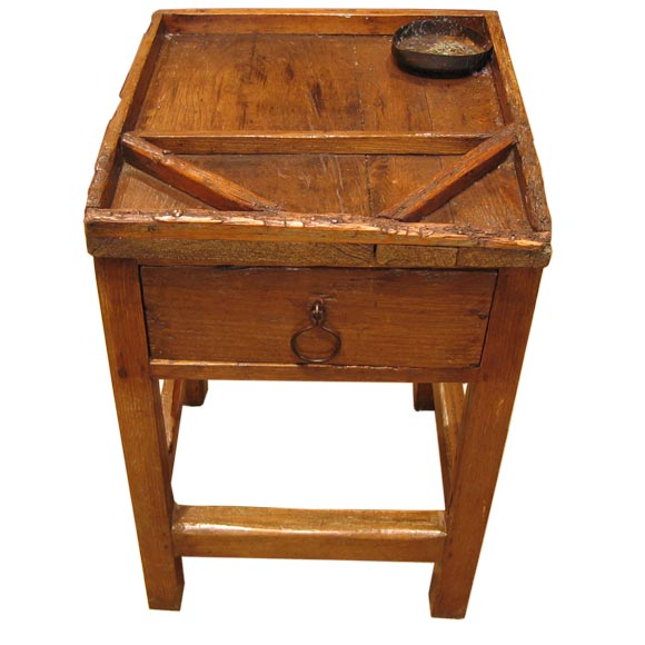 Rustic Italian Printers Table At 1stdibs