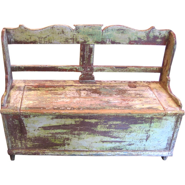 Rustic Italian Bench At 1stdibs