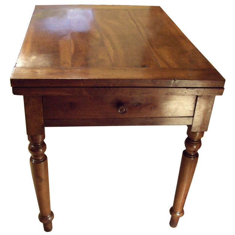 19th c italian walnut flip top farm table at 1stdibs for Table th rotate