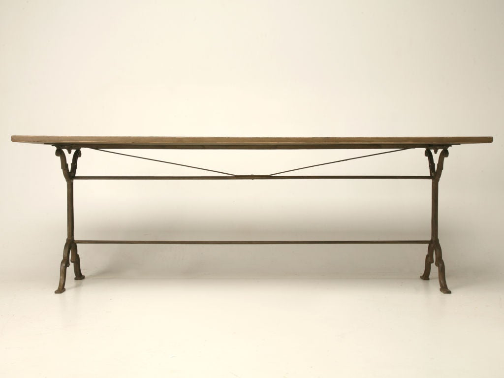 French Dining Table W Zinc Top At 1stdibs