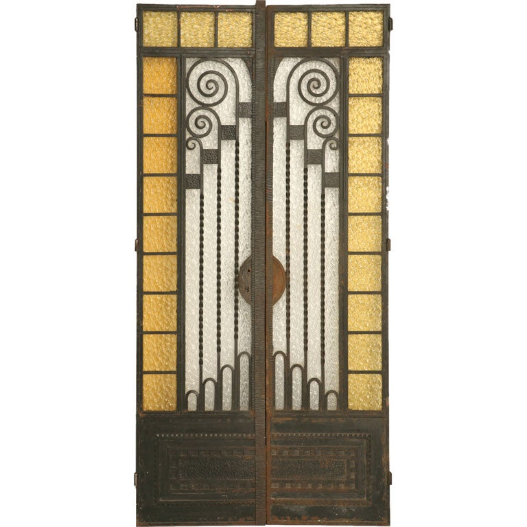Pair of fabulous french art deco doors at 1stdibs for Garden design 1930