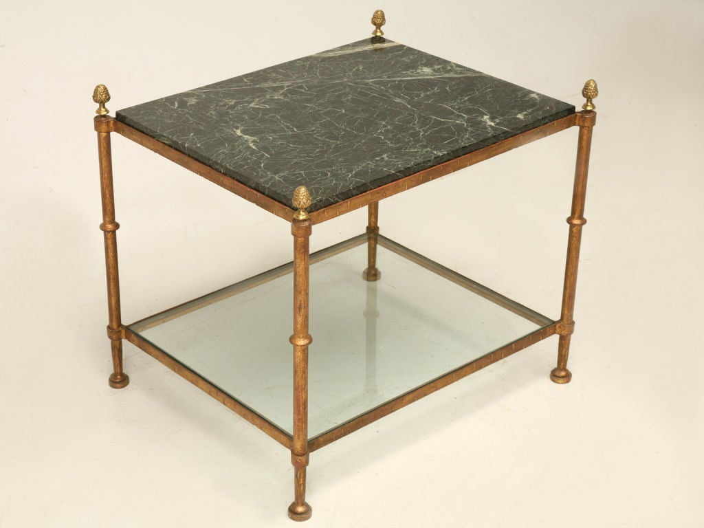 French 2 Tier Marble And Glass Coffee Table At 1stdibs