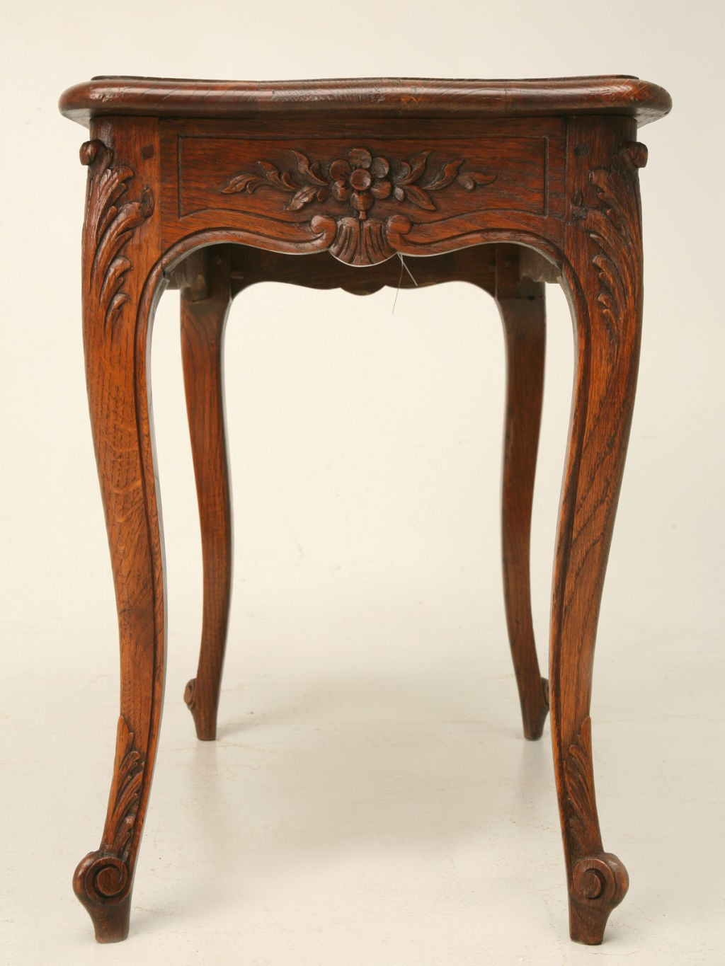 French Oak Louis Xv Style End Table Petite Coffee Table At 1stdibs