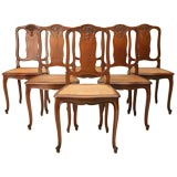Set of Six Vintage Side Chairs