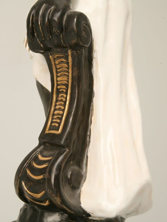 Vintage French Blackamoor Torchiere Lamp For Sale At 1stdibs