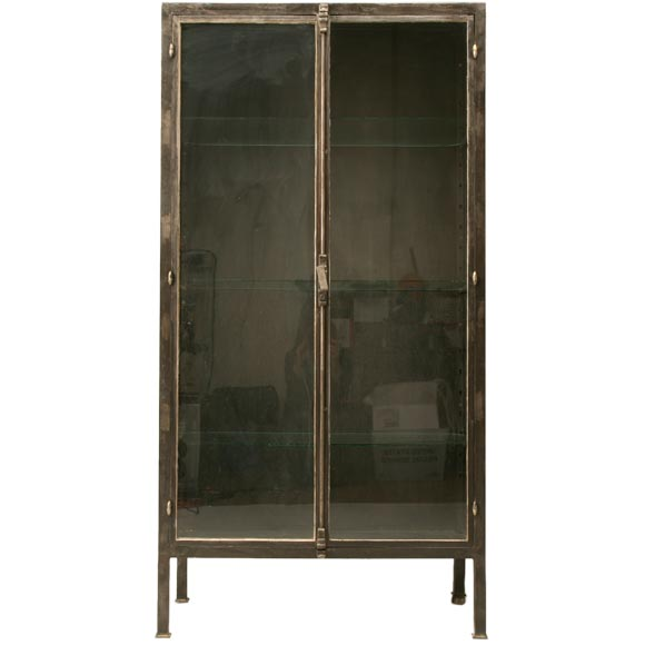 Vintage French Metal Cabinet At 1stdibs