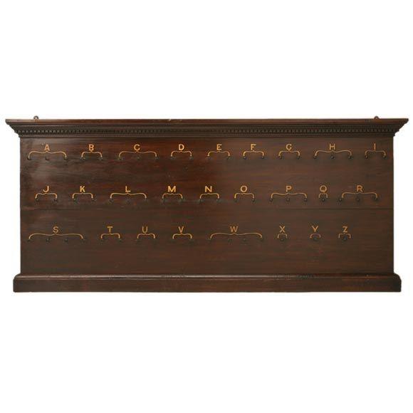 - Vintage hotel key rack ...