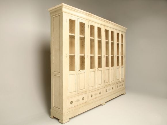 Antique french painted 8 over 4 bibliotheque cabinet at 1stdibs - Bibliotheque 4 cases ...