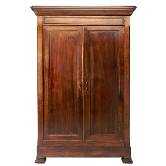louis philippe style armoire at 1stdibs. Black Bedroom Furniture Sets. Home Design Ideas