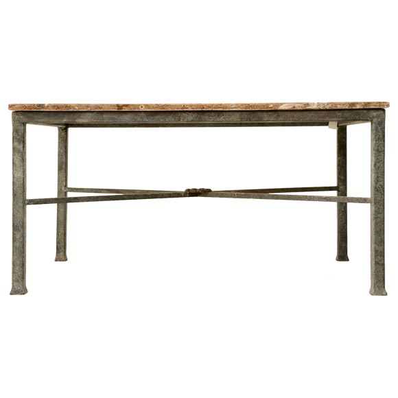Fossil coffee table with steel base at 1stdibs for Fossil coffee table