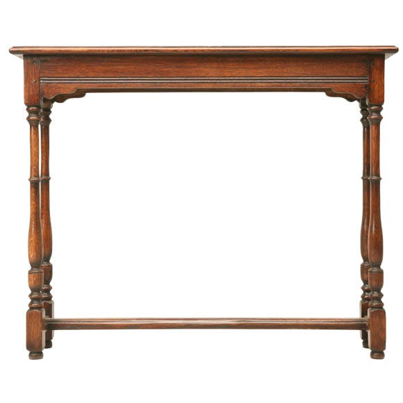 Oak console table with yew wood banding at 1stdibs for Yew sofa table