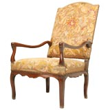c.1820 Needlepoint Throne Chair